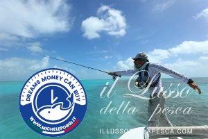 Flyfishing cast Michele Poggi